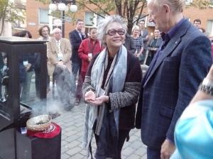Adrienne Clarkson, ancienne gouverneure générale et conjointe de John R Saul, président du PEN International