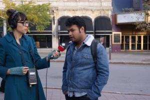 Le congressiste du PEN Inde en entrevue