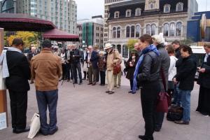 Les congressistes observent la minute de silence pour Amanuel Astrat-Erythrée